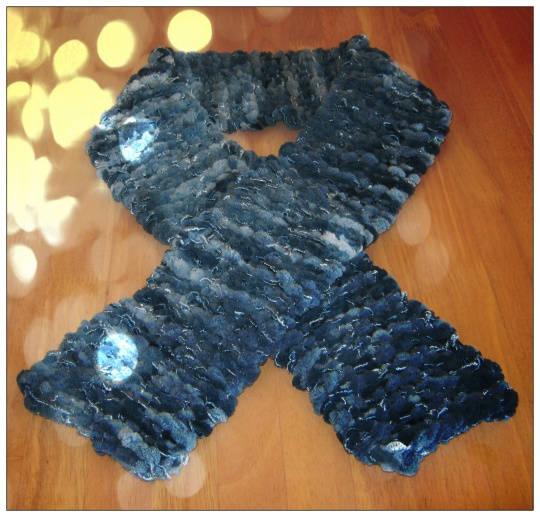 Handmade Amazing Scarf in Blue Shades
