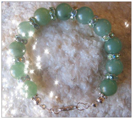 Green Aventurine & Silver